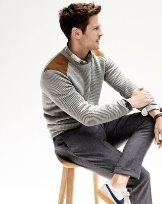 Pull gris Calvin Klein