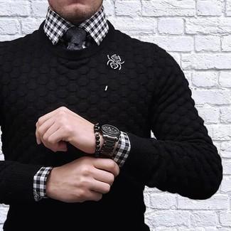 Cravate noire Dolce & Gabbana