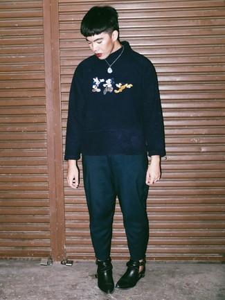 Bottines chelsea en cuir noires Base London