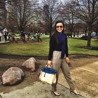 Escarpins en cuir argentés Chloe Gosselin