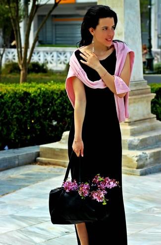 Robe longue fendue noire Lovers + Friends