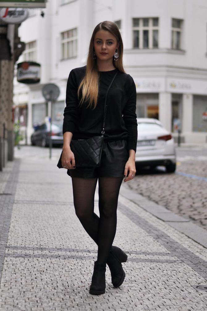 en Comment un cuir noir des short bottines en porter avec AL5R4j3