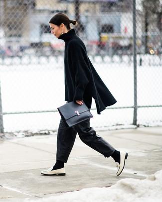Pochette en cuir noire Rebecca Minkoff