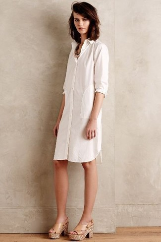 Robe chemise blanche Marc Jacobs