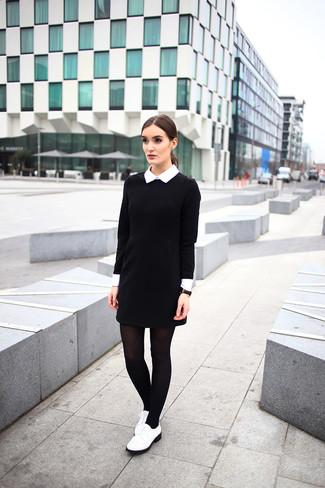 e66156860c3 Comment porter une robe noire et blanche (1021 tenues)