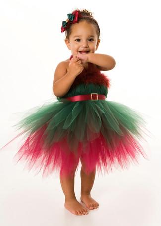 Comment porter: robe de noël vert et rouge