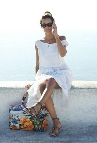 Robe de plage blanche BRIGITTE