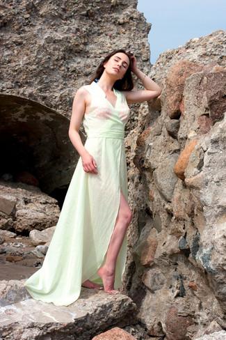 Comment porter: robe de plage vert menthe
