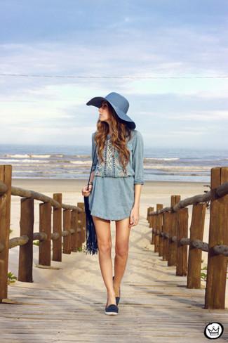 Chapeau de paille bleu marine Lanvin