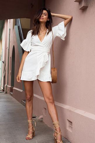 58f40396004 Tenue  Robe drapée blanche