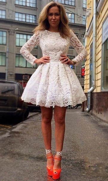 Comment porter une robe blanche dentelle