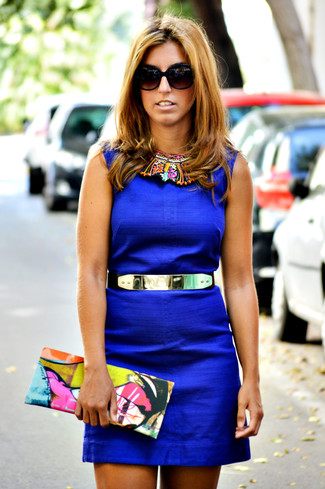 fc722e32a9d Tenue  Robe fourreau bleue