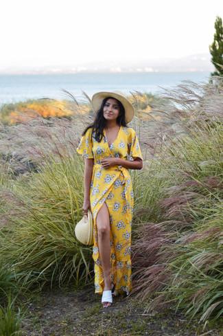 f47a07c0f64 Comment porter Robe longue à fleurs jaune Missguided