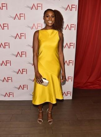 bc3b125213e6 Comment porter une robe jaune en été (138 tenues)