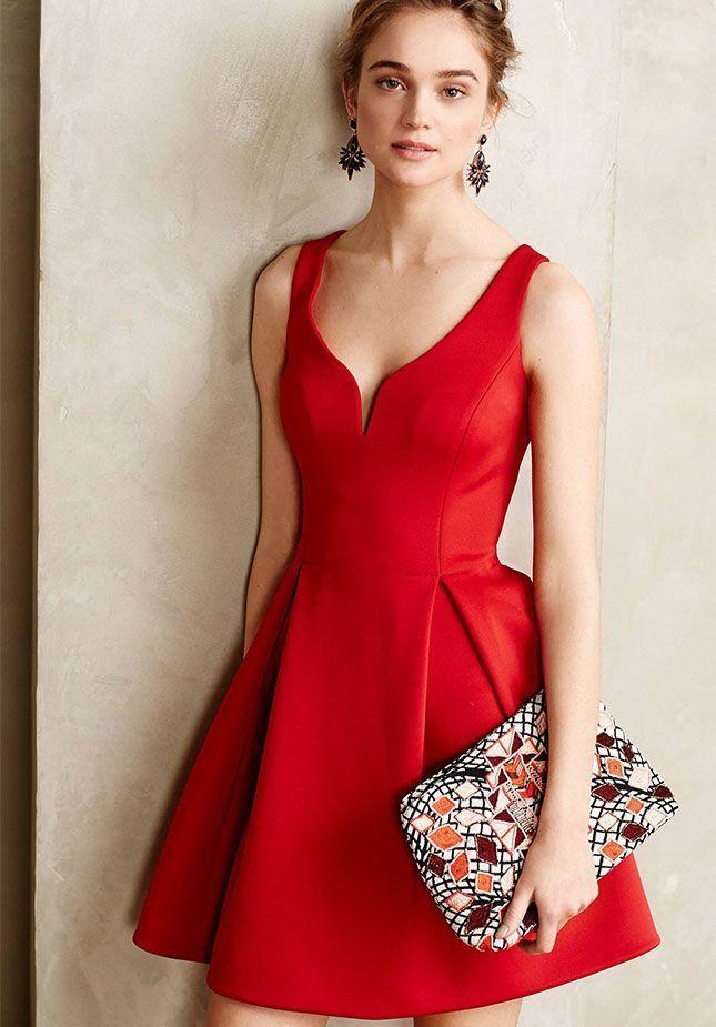 cc5fc37bb9e Robe rouge originale robe rouge noir blanc