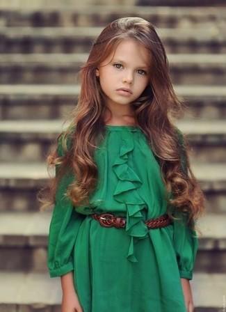 Comment porter: robe verte