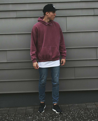 Pull bordeaux Hilfiger Denim