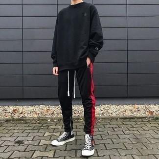 Pull noir Maerz