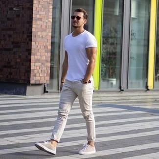 Pantalon chino beige Pepe Jeans