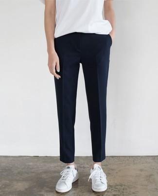 Pantalon de costume bleu marine 'S Max Mara