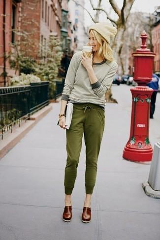 Pantalon de jogging olive Andrea Ya'aqov