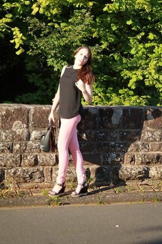 Jean skinny rose Pinko