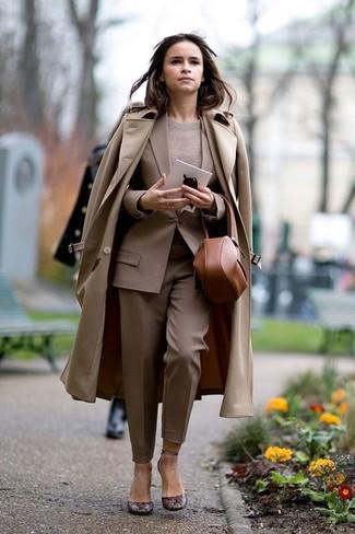 Blazer brun clair Erika Cavallini