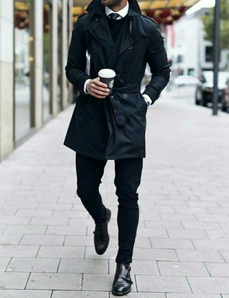 Trench noir Rick Owens