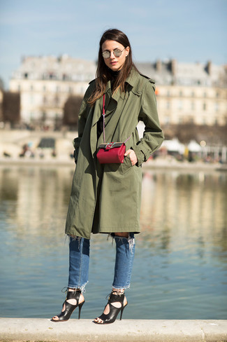 Trench olive Tom Tailor Denim