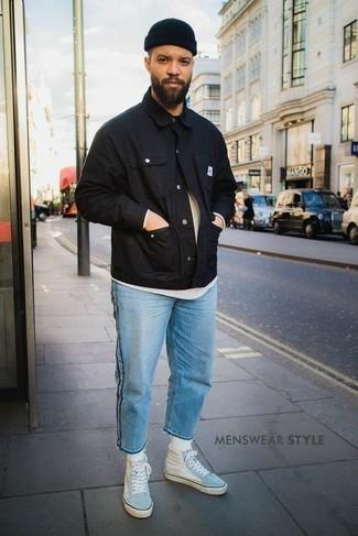 Veste-chemise noire Rick Owens