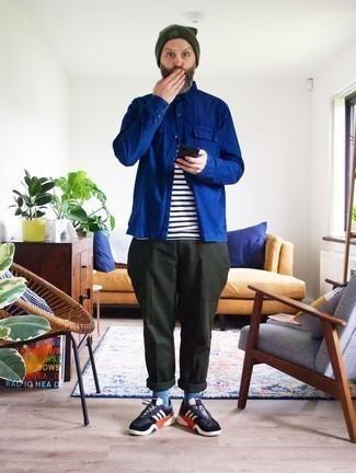Veste-chemise bleu marine Another Influence