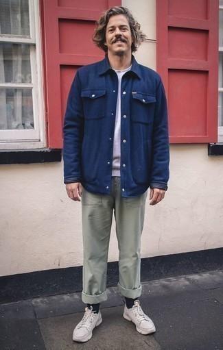 Veste-chemise bleu marine Marni