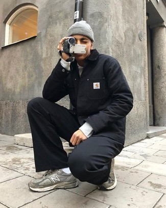 Veste-chemise noire Mostly Heard Rarely Seen