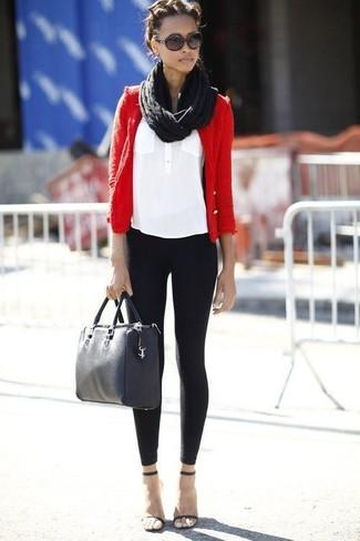 Comment porter une veste en cuir noir femme