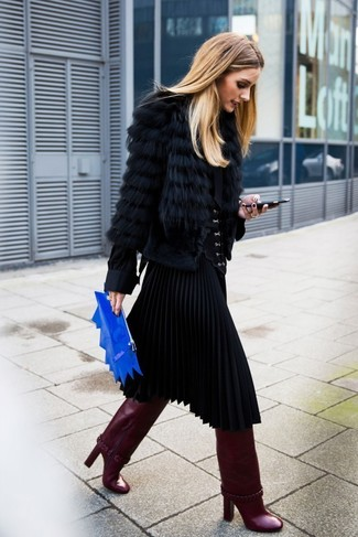 Chemisier à manches longues en soie noir Givenchy
