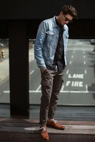 En Derby Une Chaussures Turquoise Comment Porter Avec Des Veste Jean jLA354R