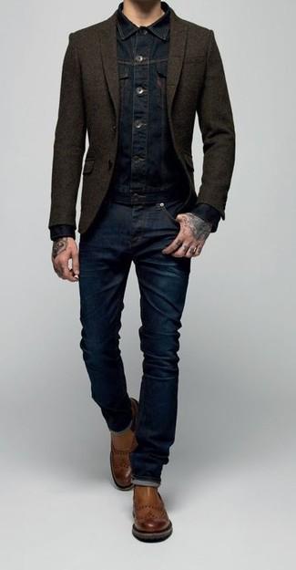 Veste en jean bleu marine Wrangler