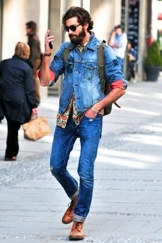 Jean skinny déchiré bleu Threadbare