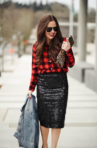 Jupe noire Gucci