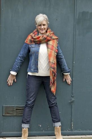 bons plans sur la mode Royaume-Uni disponibilité prix incroyable Comment porter une écharpe écossaise orange avec un pull ...