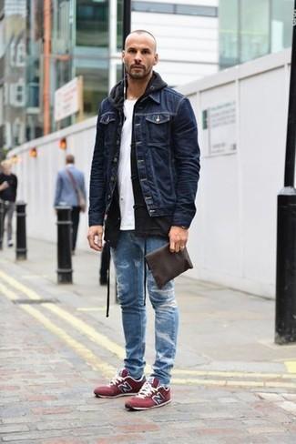 Jean skinny déchiré bleu Jaded London