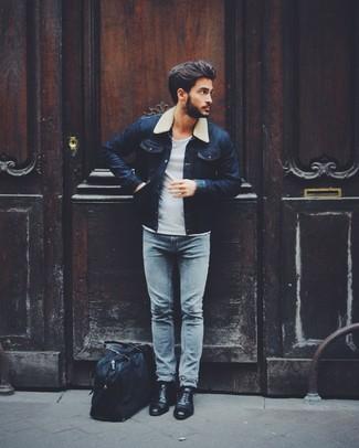 Veste en jean bleu marine Shine Original