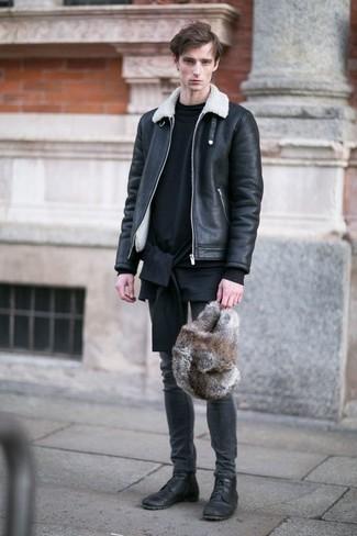 Bottes de loisirs en cuir noires WALK LONDON