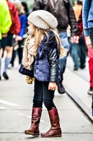 Comment porter une veste en cuir noire en automne: