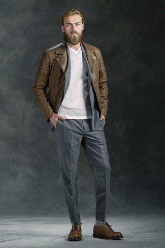 Pull à col en v gris Hackett Clothing