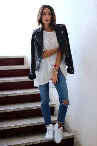 Veste en jean sans manche pour femme