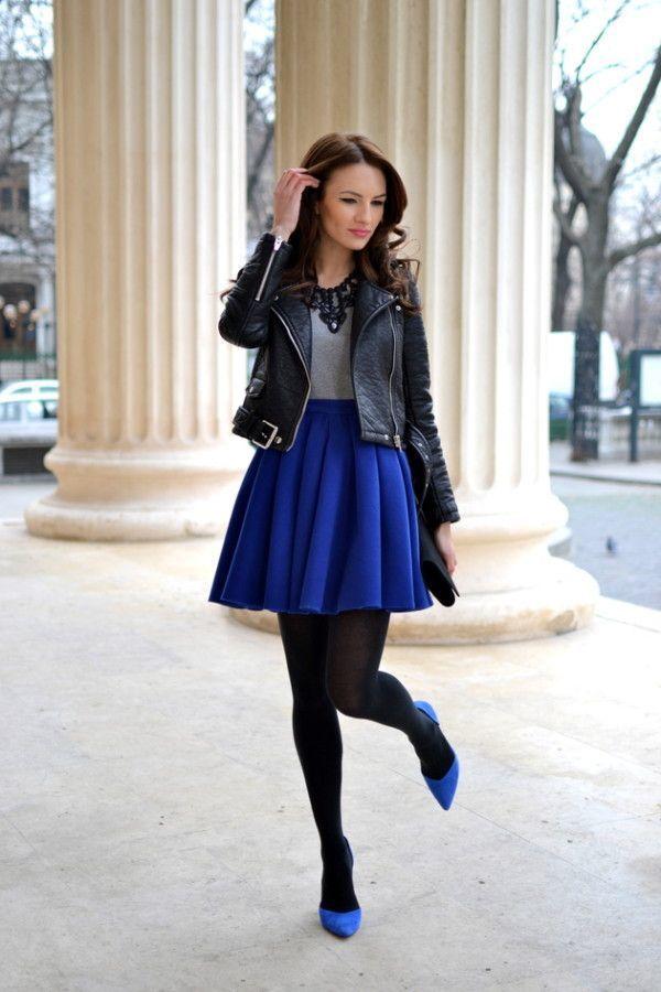 6d4514f5e715 Jupe patineuse bleu marine jupe longue en laine