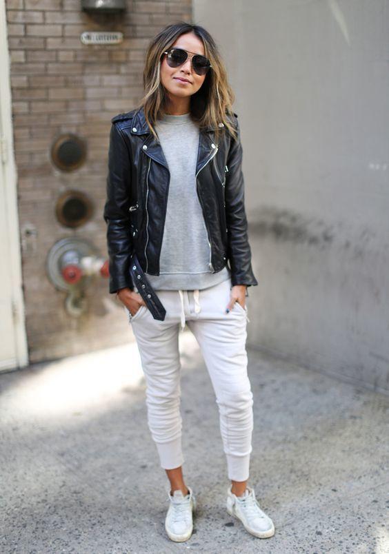 nouveau concept super qualité promotion Comment porter un pantalon de jogging blanc (21 tenues ...