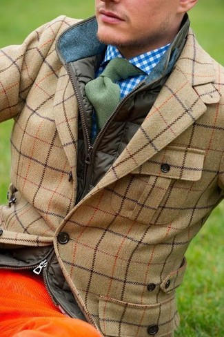 Veste sans manches olive Brooks Brothers