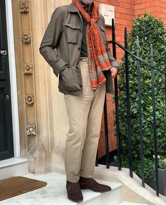 Pantalon marron clair Jack & Jones